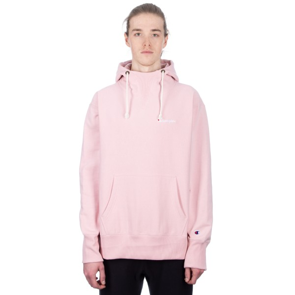 Champion Reverse Weave Deconstructed Pullover Hooded Sweatshirt (Pink)