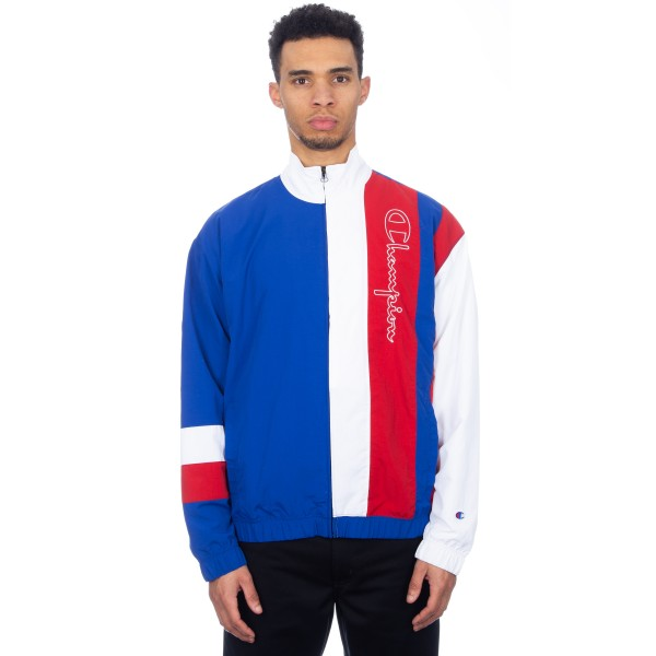 Champion Reverse Weave Full Zip Track Top (Blue/White/Red)