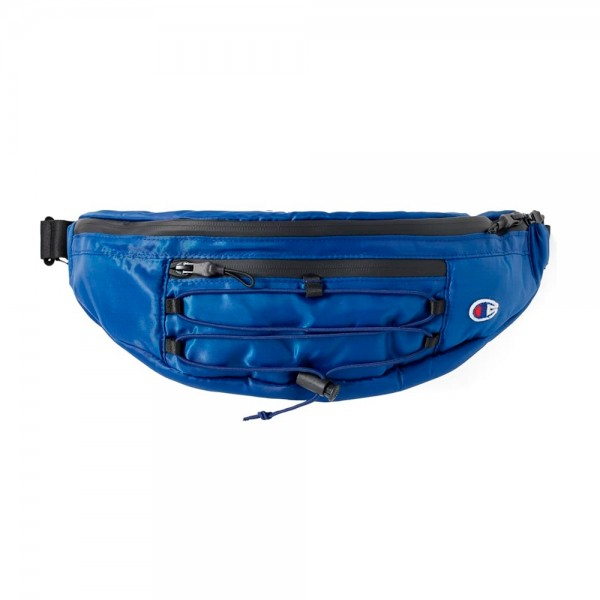 Champion Reverse Weave Lace-Up Logo Belt Bag (Dark Blue)