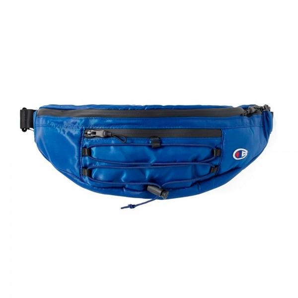 Champion Reverse Weave Lace-Up Logo Belt Bag (Dark Blue)