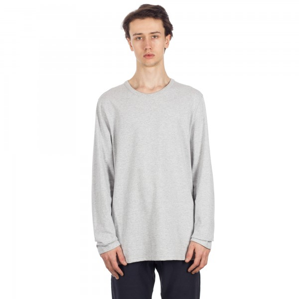 Champion Reverse Weave Long Sleeve T-Shirt (Light Oxford Grey)