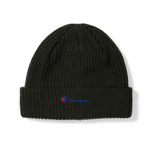 Champion Reverse Weave Merino Wool Blend Script Logo Beanie (Forest Green)
