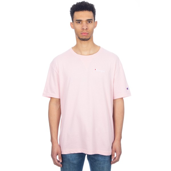 Champion Reverse Weave Oversized Deconstructed Crew Neck T-Shirt (Pink)