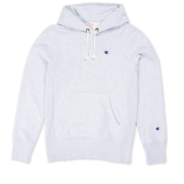 Champion Reverse Weave Pullover Hooded Sweatshirt (Light Oxford Grey)