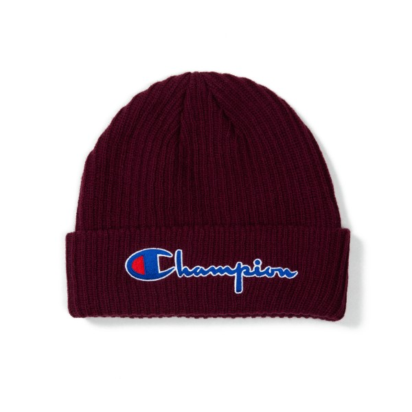 Champion Reverse Weave Script Applique Beanie (Burgundy)