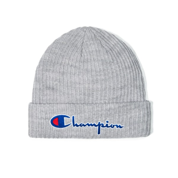 Champion Reverse Weave Script Applique Beanie (Light Oxford Grey)