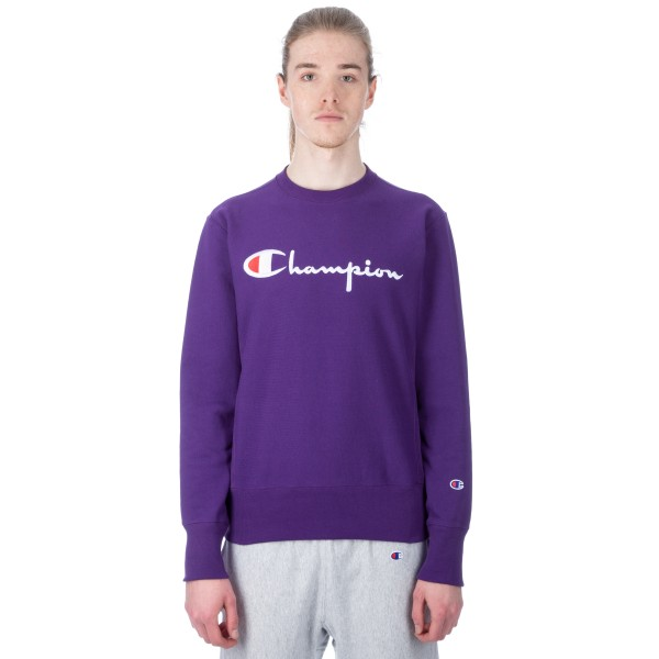 1f0fec964 Champion Reverse Weave Script Applique Crew Neck Sweatshirt
