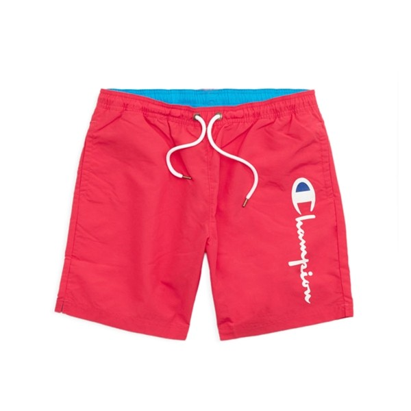 Champion Reverse Weave Script Beach Short (Hot Pink/Light Blue)