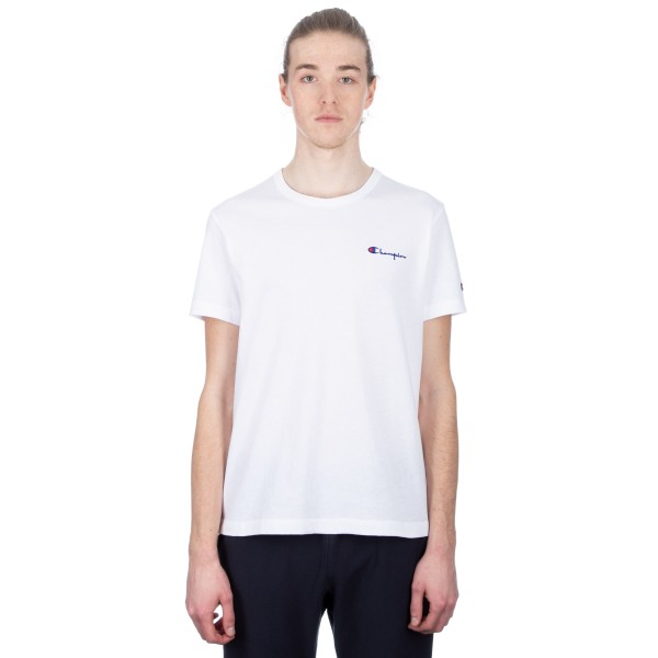 Champion Reverse Weave Small Script Crew Neck T-Shirt (White)