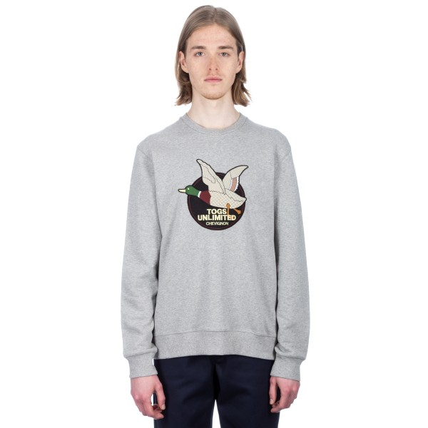 Chevignon Togs Unlimited Crew Neck Sweatshirt (Heather Grey)