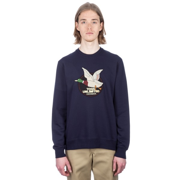 Chevignon Togs Unlimited Crew Neck Sweatshirt (Navy)