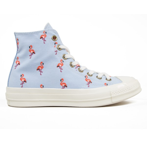 Converse All Star Chuck Taylor 70 Hi Prep Embroidery (Blue Chill/Pale Coral/Egret)