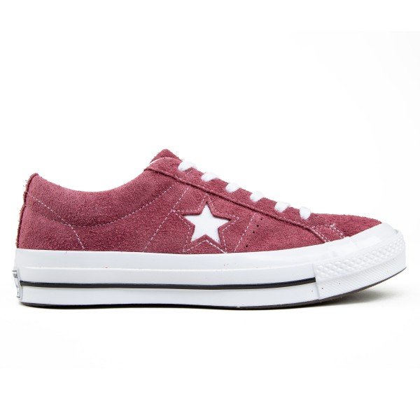 Converse One Star OX (Deep Bordeaux/White/White)