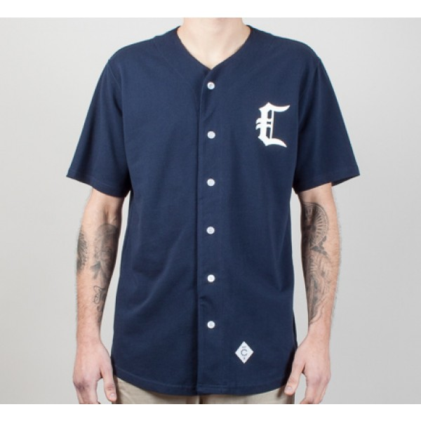 Crooks & Castles Stadium C Baseball Jersey (True Navy)
