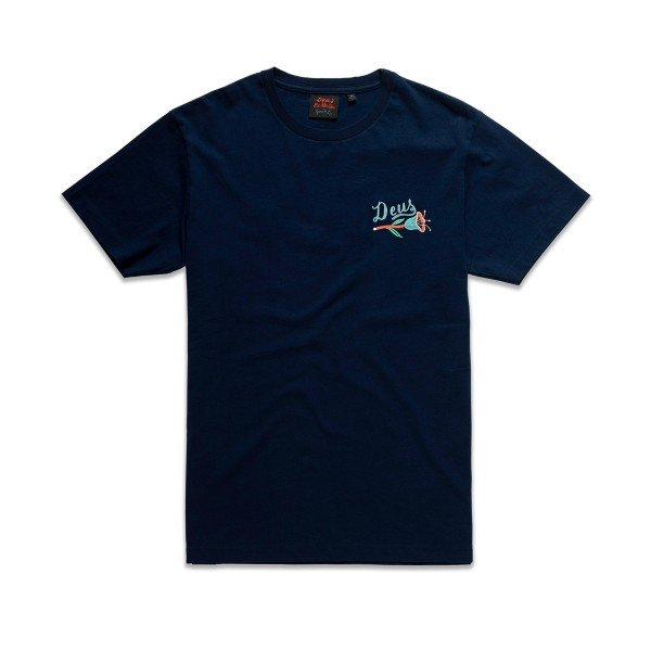 Deus Ex Machina Bjorn Camperdown T-Shirt (Navy)