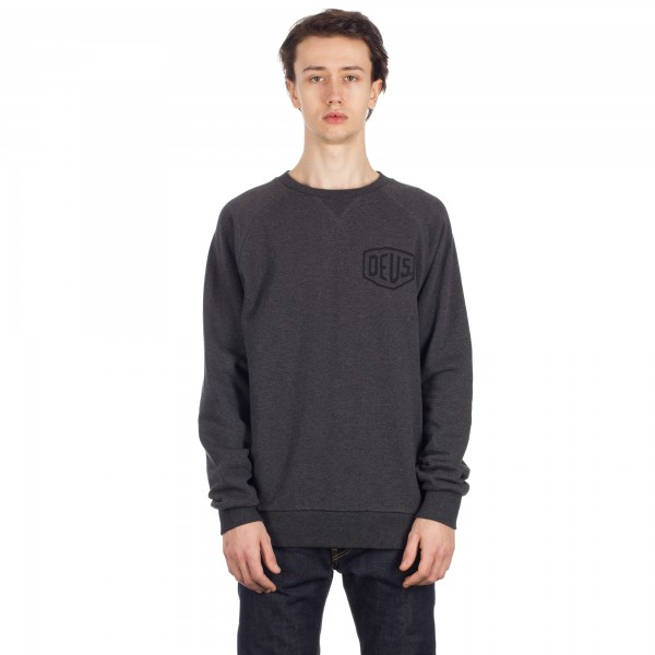 Deus Ex Machina Camperdown Address Crew Neck Sweatshirt (Charcoal Marle)