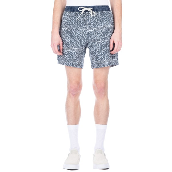 Deus Ex Machina Sandbar Eastern Maze Short (Dark Denim)