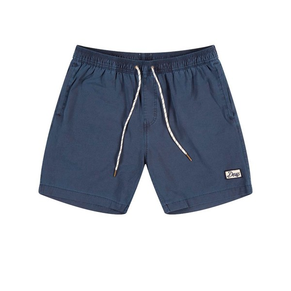 Deus Ex Machina Sandbar Solid Garment Dye Shorts (Mood Indigo)