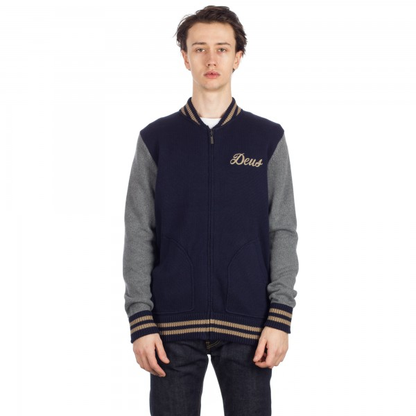 Deus Ex Machina Skull Bomber Jacket (Navy)