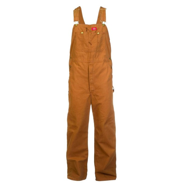 Dickies High Performance Duck Bib Overall (Rinsed Brown)