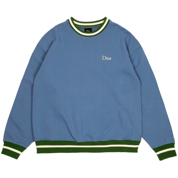 Dime Classic French Terry Crew Neck Sweatshirt (Blue)