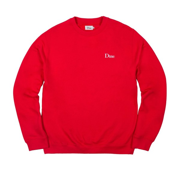 Dime Classic Logo Crew Neck Sweatshirt (Red)