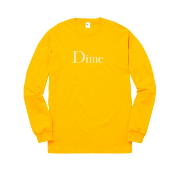 Dime Classic Logo Long Sleeve T-Shirt (Gold)
