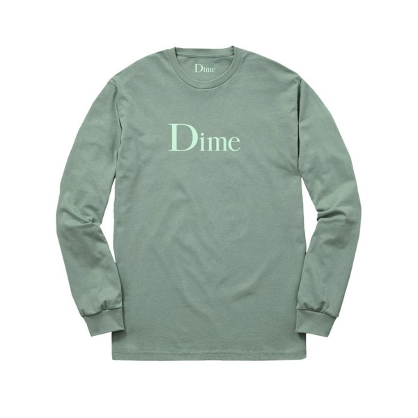 Dime Classic Logo Long Sleeve T-Shirt (Green)