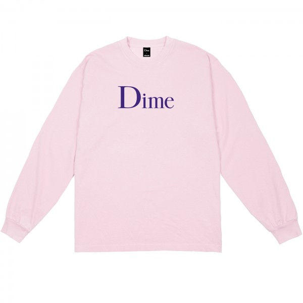 Dime Classic Logo Long Sleeve T-Shirt (Light Pink)