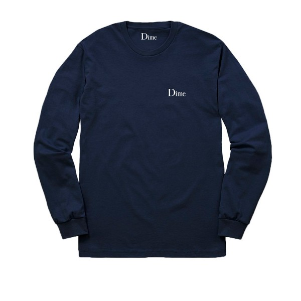 Dime Classic Logo Long Sleeve T-Shirt (Navy)