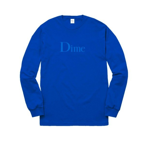 Dime Classic Logo Long Sleeve T-Shirt (Royal)