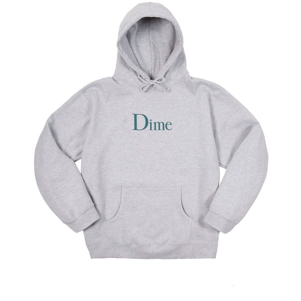 Dime Classic Logo Pullover Hooded Sweatshirt (Heather Grey)