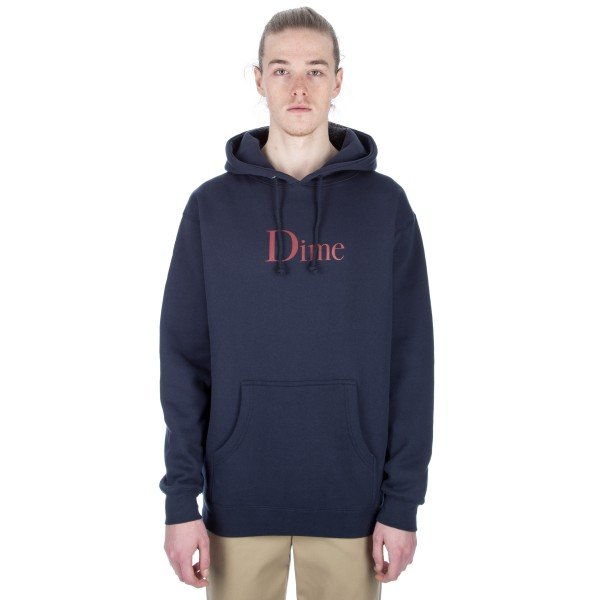 Dime Classic Logo Pullover Hooded Sweatshirt (Navy)