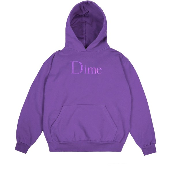 Dime Classic Logo Pullover Hooded Sweatshirt (Purple)