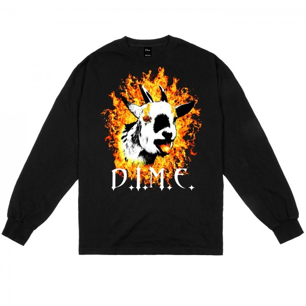 Dime Fire Goat Long Sleeve T-Shirt (Black)