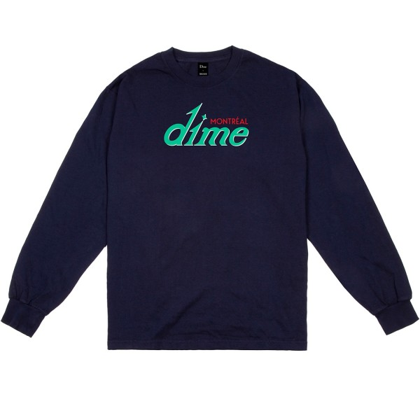 Dime Hotel Long Sleeve T-Shirt (Navy)
