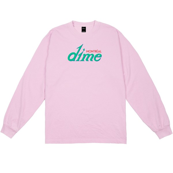 Dime Hotel Long Sleeve T-Shirt (Pink)