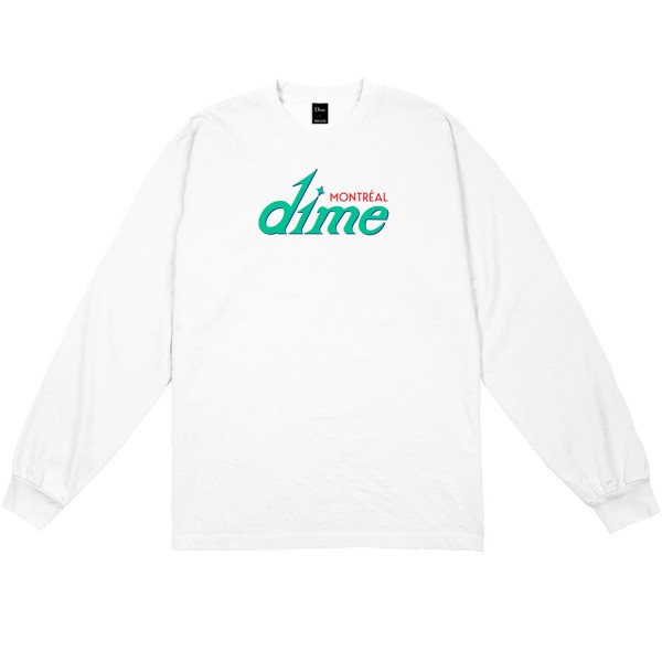 Dime Hotel Long Sleeve T-Shirt (White)