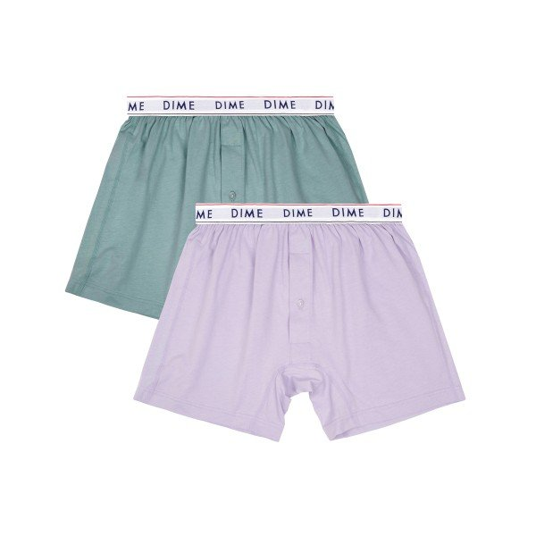 Dime Loose Fit Boxers 2 Pack (Green/Light Purple)