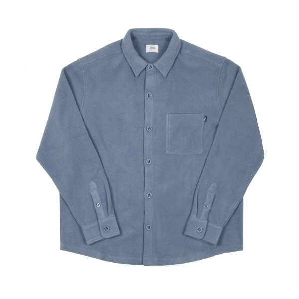 Dime Polar Fleece Button Up Shirt (Light Blue)