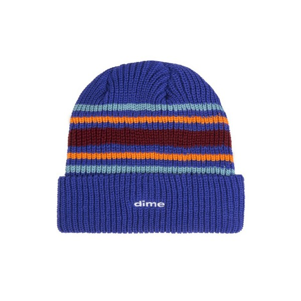 Dime Striped Beanie (Blue)