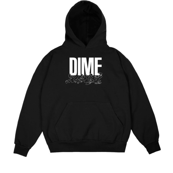 Dime Support Pullover Hooded Sweatshirt (Black)