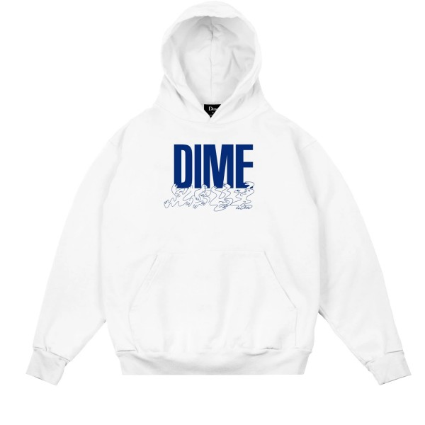Dime Support Pullover Hooded Sweatshirt (White)
