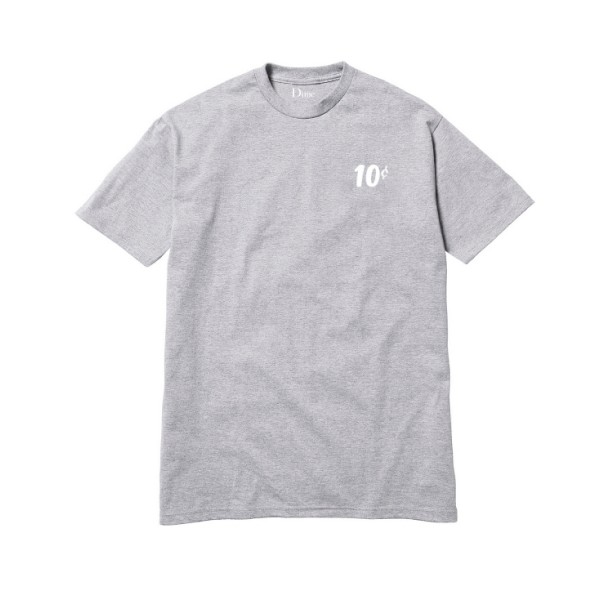 Dime x Quartersnacks T-Shirt (Heather Grey)
