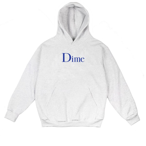 Dime Classic Logo Pullover Hooded Sweatshirt (Ash)