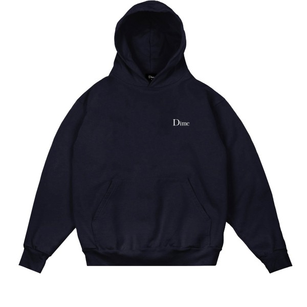 Dime Classic Embroidered Pullover Hooded Sweatshirt (Navy)