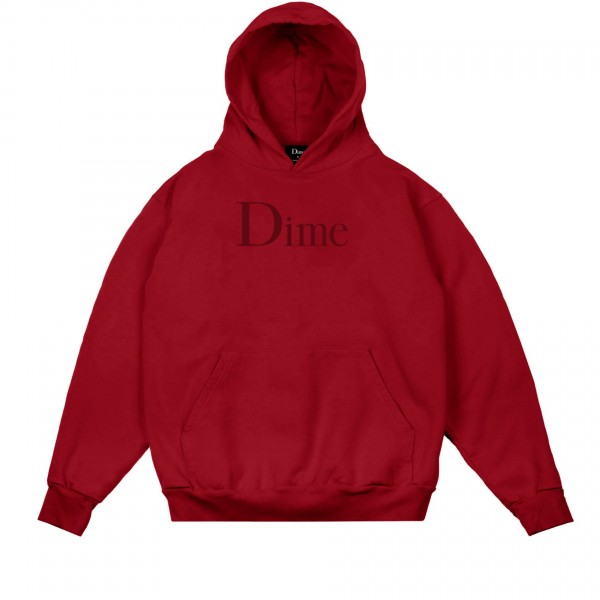 Dime Classic Logo Pullover Hooded Sweatshirt (Red)