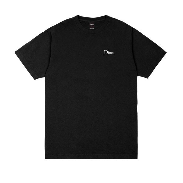 Dime Classic Embroidered T-Shirt (Black)