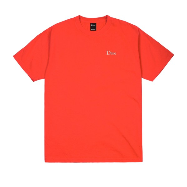 Dime Classic Embroidered T-Shirt (Tomato)