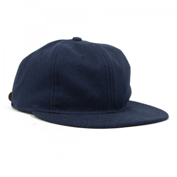 Ebbets Field Flannels Standard Adjustable Basic Ballcap (Navy Wool)